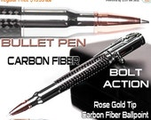 3 DAYS ONLY SALE rifle bullet pen for sale looks like small gun - gift for hunter - great Christmas gift  man -  bolt action - gun lovers gi