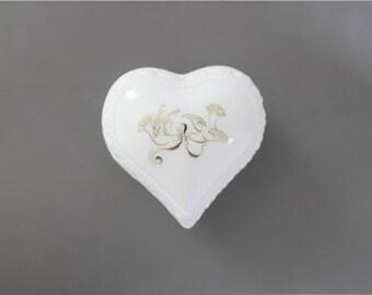 Old Avon Bottles . ring bearer box . vintage milk glass . vintage ring box . vintage Avon Bottles . avon collectible . doves