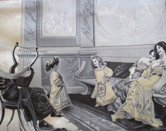 Neyret Freres Stevengraph Woven Silk Image 18th Century Style From a Painting After Vassari