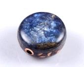 Orgonite® Celestial Focal Bead.  Orgone Generator with Arkansas Crystals, Petalite, Phenacite, Elite Shungite, Tourmaline, Selenite (t20)