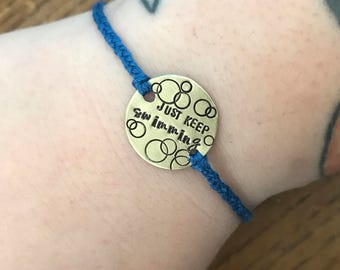 Disney // Finding Nemo // Just Keep Swimming //  bracelet
