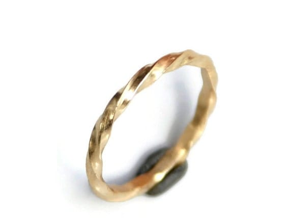 18k Gold Twisted Ring or Wedding Band