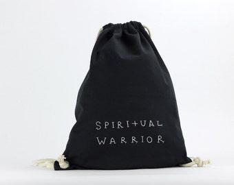 Spiritual Warrior -  Designed Black Bag