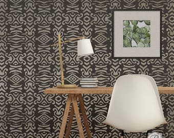 Adisa Tribal Wall Stencil - African, Asian, Eastern, Bohemian Patterns for DIY Wallpaper look