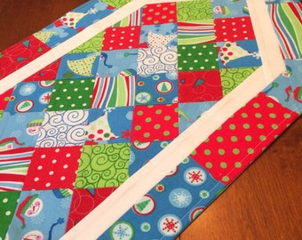 Clearance sale! 50% off all in stock items! Quilted Christmas Table Runner