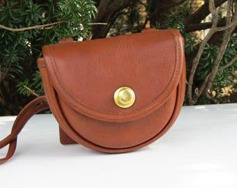 Vintage Coach Bag // Mini Belt Bag // British Tan Leather // Coach Cross Body Bag