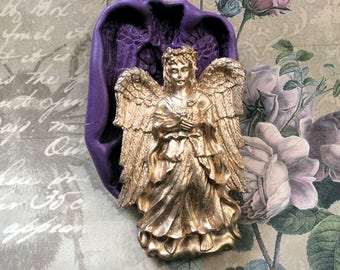 Large Angel Altered art Face  flexible silicone mold