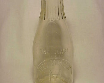 c1920s Fred Momrow Albany, N.Y. , Embossed Quart Size Milk Bottle