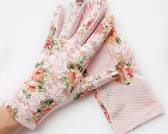 Emma Pink Shabby Chic Lace Floral Gloves