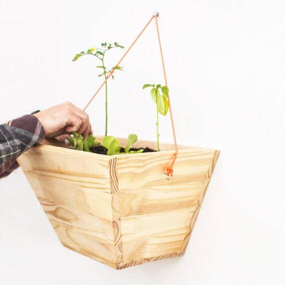 Indoor Garden Box wall hanging planter wall wooden indoor plant box wood