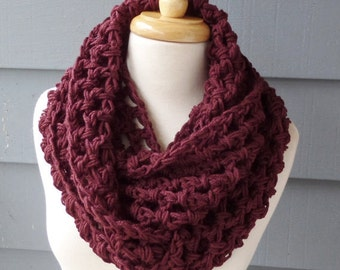 Winter Chunky INFINITY SCARF, Circle Scarf - Custom Colors - Free Shipping