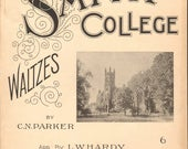 1899 SMITH COLLEGE WALTZES Antique Sheet Music