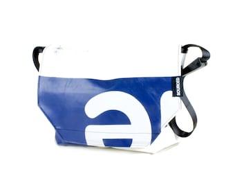 Large Messenger Bag made from Recycled Truck Tarp, Man Bag, Satchel Style Bag, MacBook Bag (58.05)