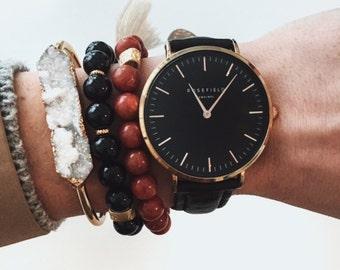 Beaded Bracelets,  Gemstone Bracelet Set, Stacking Gemstone Bracelets, Custom Bracelet Set Custom Bracelet, Gemstone Tassel Bracelet