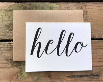 Hello Thank You Cards with Envelopes / Wedding / Shower / Engagement / Set of 10
