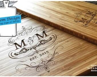 Custom Fee for Engraved cutting board, Custom Wedding Gift, Custom Wedding Logo, Custom Wedding Invitation