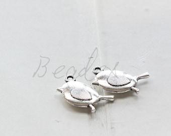 20pcs / Bird / Oxidized Silver / Base Metal / Charm 19.5*11.6mm (X353//H380)