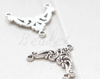 10 Pieces / 2 to 1 Component / Oxidized Silver Tone / Multi Strands Component (Y35875//O550)