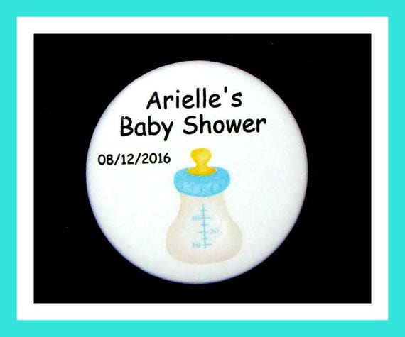 Baby Shower Bottle Favors,Personalized Buttons Pins,Favor Tags,Its a Boy,Party Favors,Birthday Party Favors,Personalized Favors,Set of 10
