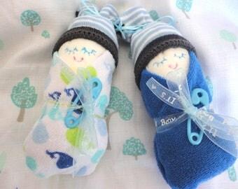 Set of 2 Diaper Babies - Baby Shower Gift - Gender Reveal