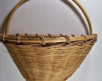 Vintage Wicker Wall Basket Hanging Door Basket Door Hanger