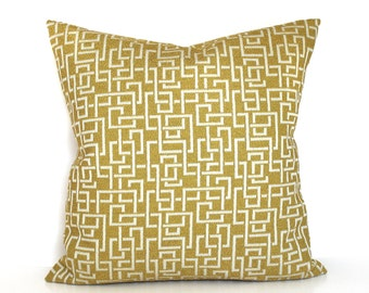Gold Pillow Cover Geometric Textured Upholstery Fabric Throw Pillow Cover Decorative Pillow Euro Sham 26x26 24x24 22x22 20x20 18x18 16x16