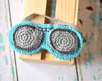 Aviator Sunglasses Sleep Mask Crochet PATTERN PDF DOWNLOAD
