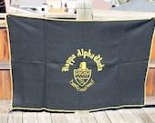 Vtg. Wool Womens Sorority Kappa Alpha Theta throw Blanket