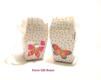 Gift Boxes with Lids AND Handles Birthday Favors Gift Wedding Favor Box Party Favor Boxes Shower Gift Box Small Floral Box Tuck Top DIY Box
