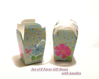 DIY Gift Boxes Wedding Favor Box Gift Boxes with Lids AND Handles Birthday Party Favor Boxes Shower Gift Box Small Small Floral Box Tuck Top