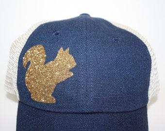 SQUIRREL!  Hello 'Sparkly' Gold Squirrel! - FREE SHIPPING -Gold Squirrel Hat - Go Nutty