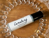CEMETERY Premium Artisan Perfume Oil ~ fresh earth, cut grass, rose, sweet pea ~ No alcohol, parabens, preservatives ~ gift or travel