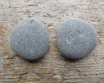 Natural Stone Cabinet Knobs BLUE WHALE Round Beach Stone Cabinet Knobs