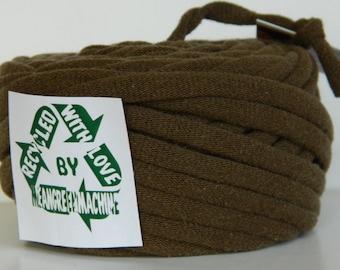 Recycled T-Shirt Yarn, Tee Yarn, Brown 23.5 Yards, T Yarn