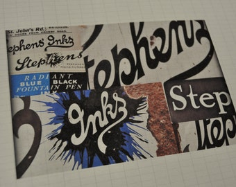 Stephens' Ink typography collage