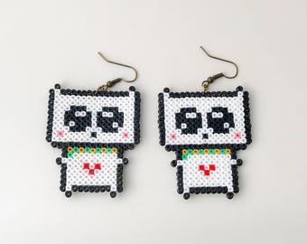 Cat Hama Bead Earrings