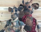 primitive cows-cow dolls-set of cows-farm house decor-barnyard-primitive folk art cows-handmade cow dolls-ranch decor-farmhouse-prim cows