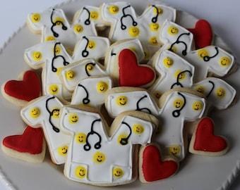 Get Well Soon Sugar Cookies, Get Well Gift, Get Well Soon, Get Well Care Package, Get Well Gift Basket, Nurse Gift, Doctor Gift