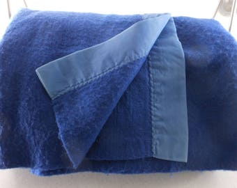 "Blanket ACRYLIC Royal Blue Sateen Binding 65"" X 94"" X Long"