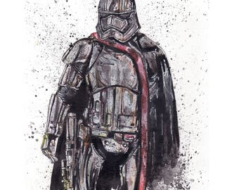 Captain Phasma 11x14 Signed and Numbered Art Print