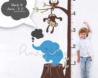 Safari Growth Chart with Free Chalkboard Wall Decal