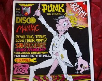 Punk Magazine #16 orig 1979 Holmstrom Sex Pistols Sid Vicious Shrapnel Comix Fanzine