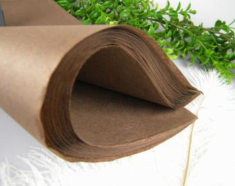 """Chocolate Brown Tissue Paper Sheets, Rustic Wedding Gift Wrap, Fall Packaging, 48 Sheets 20"""" X 30"""" Brown Tissue Sheets , Craft supply"""