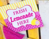 Pink Lemonade Sign Printable - INSTANT DOWNLOAD -  Pink Lemonade Collection