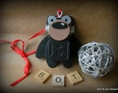 Robot Ornament - Bear Bot - B Bot - Upcycled Ornament - Hanging Decor by Jen Hardwick
