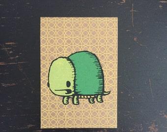 turtle mini sketchbook, turtle notebook, kids sketchbook, mini sketchbook, pocket notebook, stocking stuffer