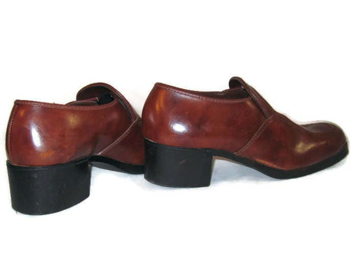 70s mens platform shoes slip on shoes vegan friendly shoes