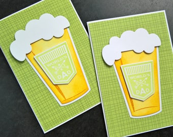 Father's Day Card, Card for Father, Beer Lover Card, Microbrew Beer Card, Beer Father's Day Card, Card for Dad
