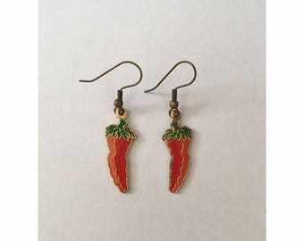 Vintage Chili Pepper Earrings