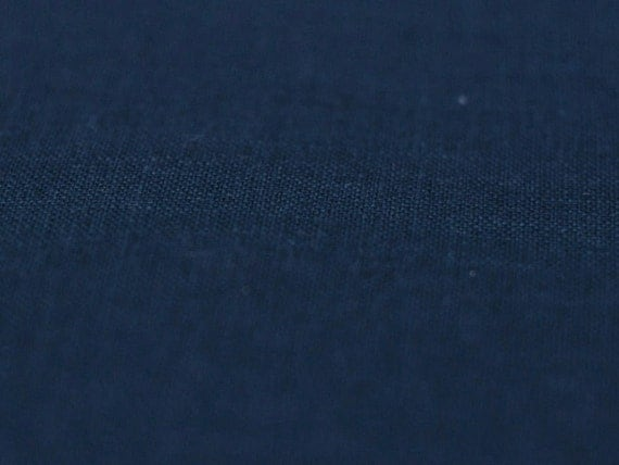 Indigo linen fabric Pure linen fabric Softened and pre-shrunk Navy blue linen flax fabric by half yard